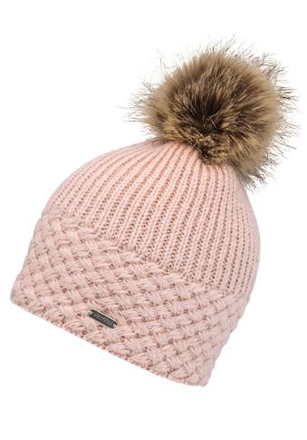 chillouts Bommelmütze, Apple Hat, Abnehmbarer Fellimitat-Bommel, Fleece-Futter kaufen