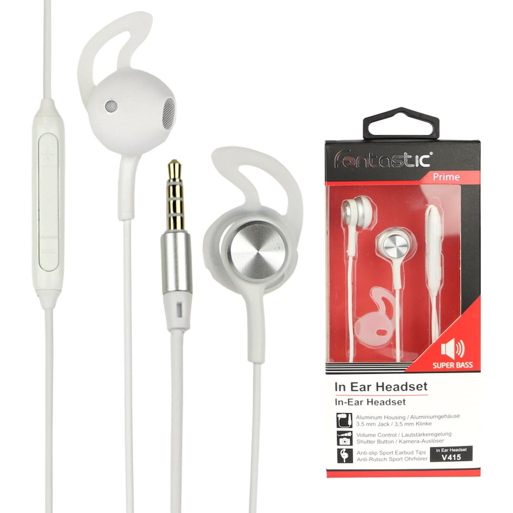 fontastic Headset »In-Ear Stereo-Headset V415 3,5 mm«