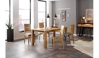 Home affaire Essgruppe »Nils 7« (Set, 5 - tlg Tisch 180/90 cm, 4 Stühle, Holzsitz) kaufen