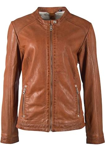 Gipsy Lederjacke »Jayla«, im Bikerstyle - Comfort Size 42-56 kaufen