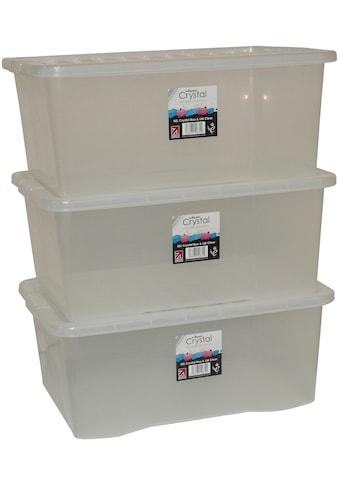 Aufbewahrungsbox »Wham - Crystal«, (Set, 3 St.), 45 l, stapelbar kaufen