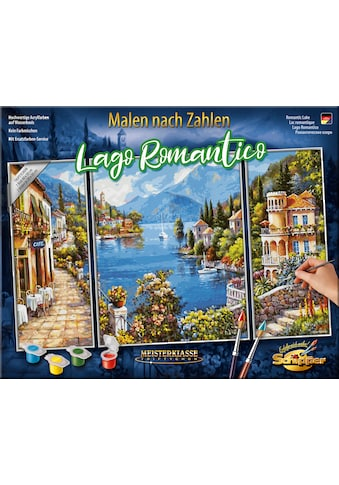 Schipper Malen nach Zahlen »Meisterklasse Triptychon - Lago Romantico«, Made in Germany kaufen