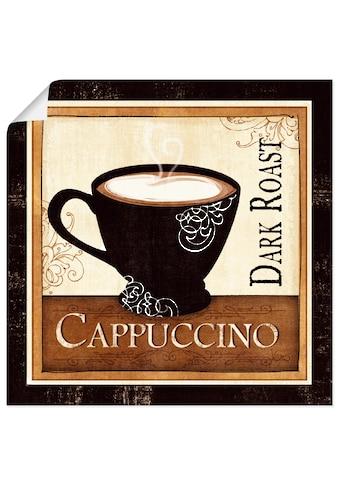 Artland Wandbild »Kaffee und Sahne II«, Getränke, (1 St.), in vielen Größen &... kaufen