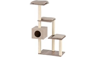 SILVIO DESIGN Kratzbaum »Stufenboy Cosy«, B/T/H: 80/36/126 cm, sanremodekor/sandfarben kaufen