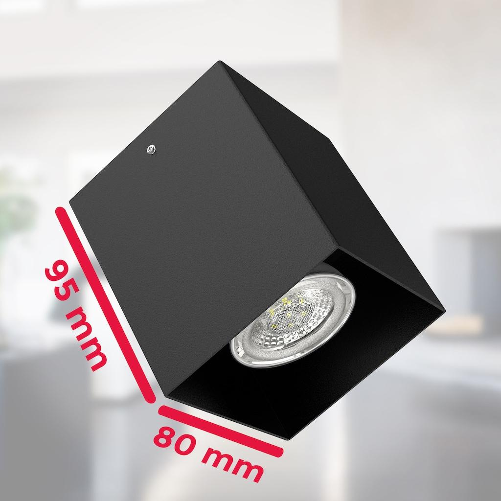 B.K.Licht LED Aufbaustrahler, GU10, LED Aufbauleuchte Deckenspot Strahler Deckenlampe metall schwarz exkl. GU10