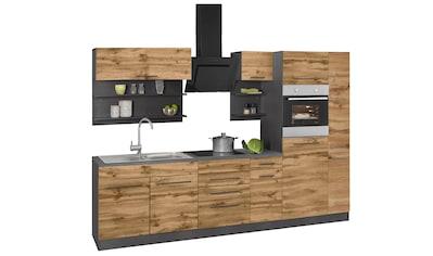 HELD MÖBEL Küchenzeile »Tulsa«, mit E-Geräten, Breite 300 cm, schwarze Metallgriffe,... kaufen