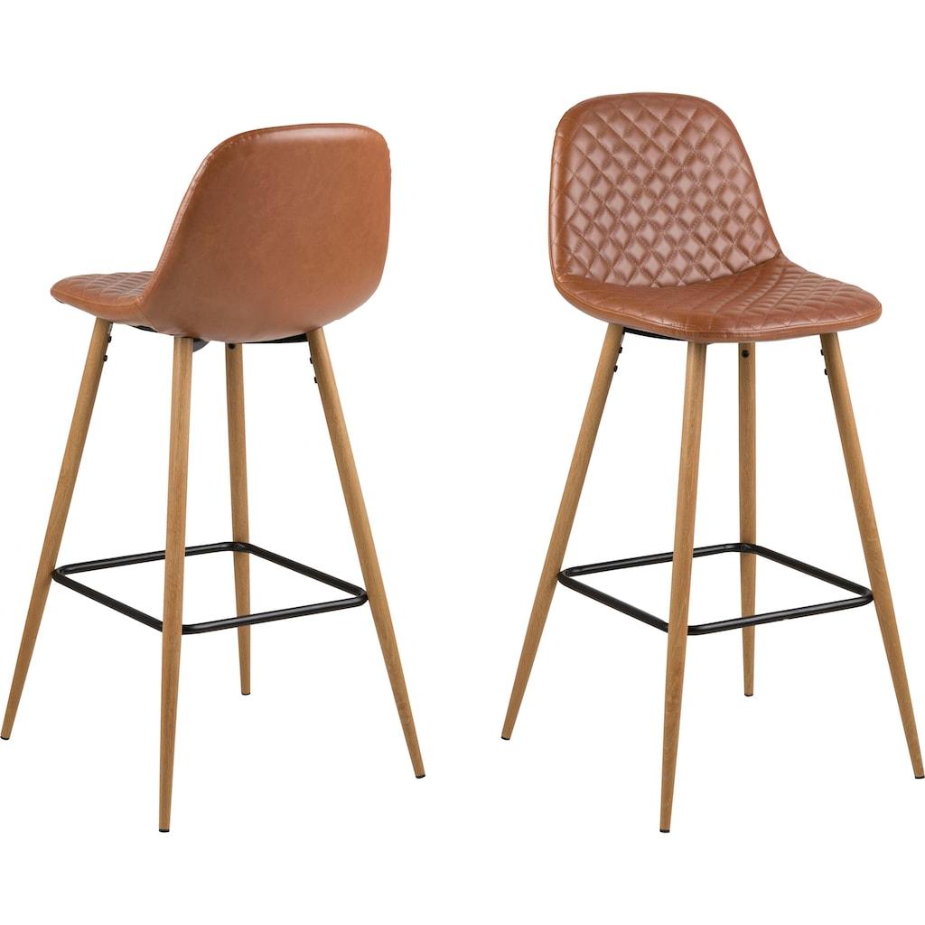 andas Barhocker »Willy«, Gestell aus Metall, Sitzpolsterung aus pflegeleichten Kunstleder, oder Webstoff, Sitzhöhe 73 cm