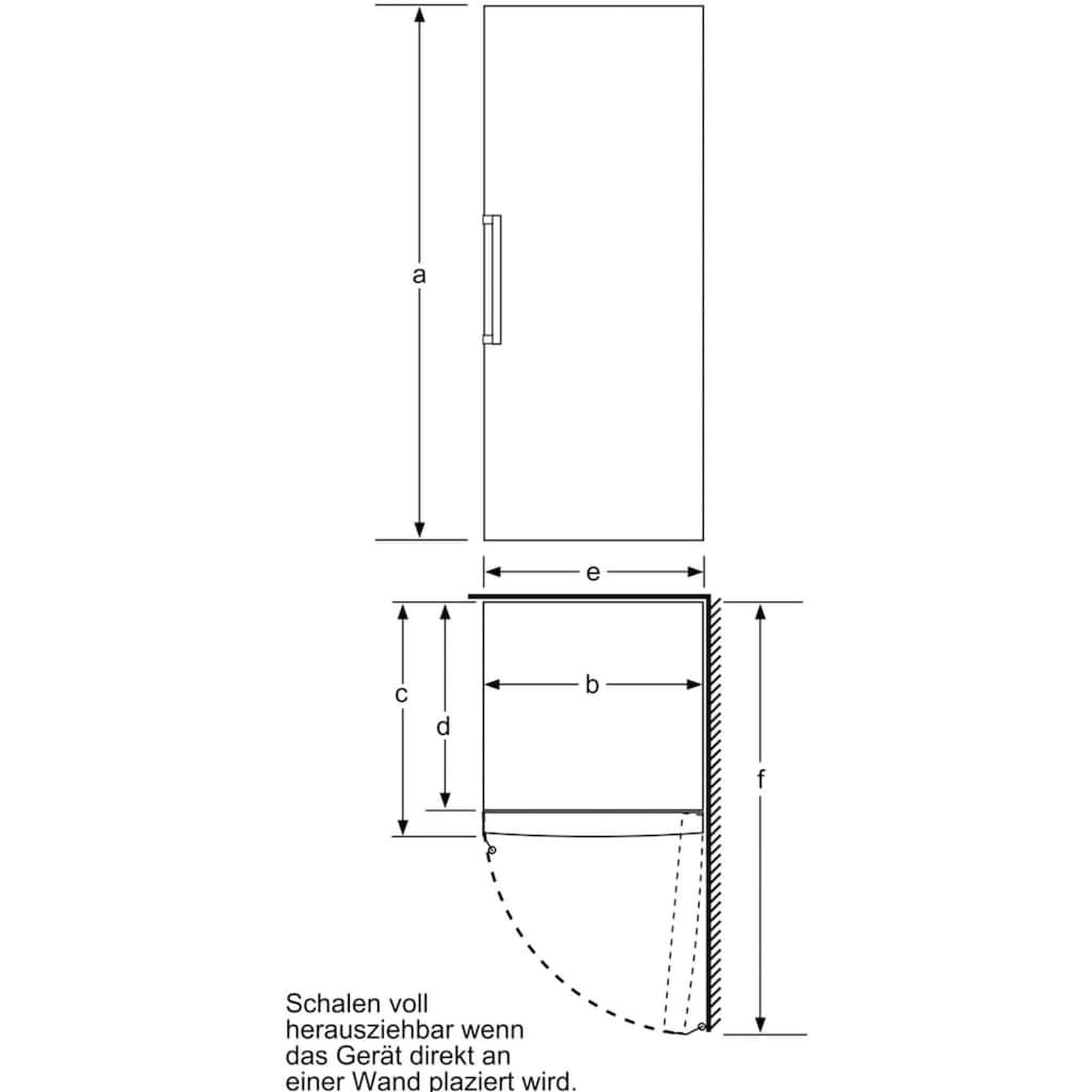 BOSCH Gefrierschrank »GSN58AWDV«, 191 cm hoch, 70 cm breit