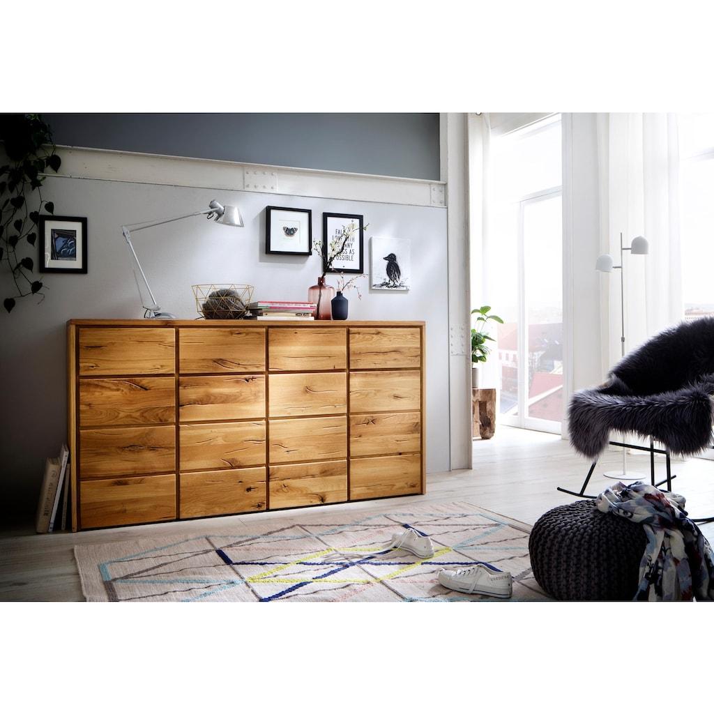 Home affaire Kommode »Zetra«, aus schönem massivem Wildeichenholz, Breite 172 cm