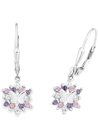 Prinzessin Lillifee Paar Ohrhänger »Schmetterling, 9245703«, mit Zirkonia kaufen