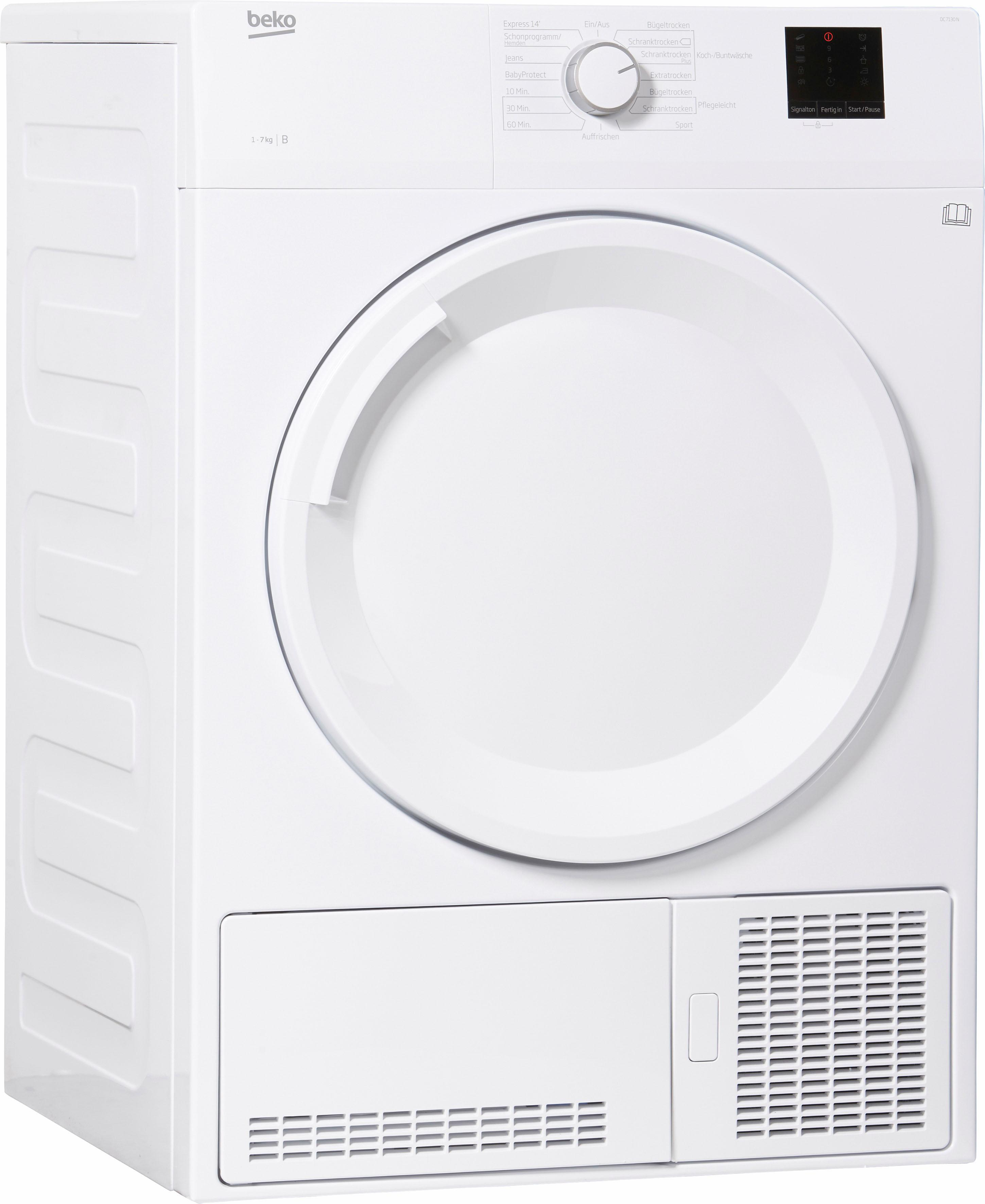 BEKO Kondenstrockner DC 7130 N, 7 kg   Bad > Waschmaschinen und Trockner > Kondenstrockner   Beko