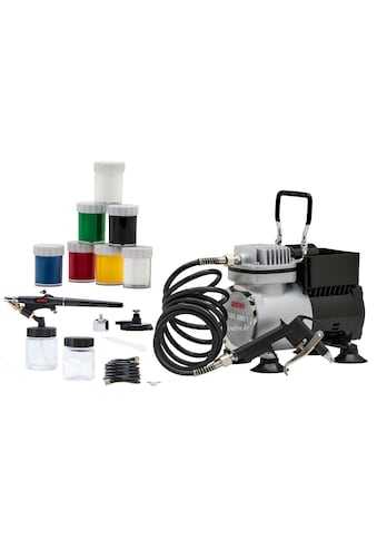 ROWI Airbrush - Kompressor »DAS 300/1 Set Creative«, 19 - tlg. Set, 3,2 bar kaufen