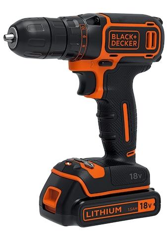 Black + Decker Akku-Bohrschrauber »BDCDC18K-QW«, im Koffer kaufen