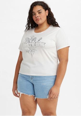 Levi's® Plus Print-Shirt »Graphic Surf Tee«, mit Markenschriftzug und floralem Print kaufen