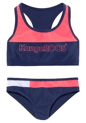 KangaROOS Bustier-Bikini, (1 St.), im Colourblocking-Design kaufen
