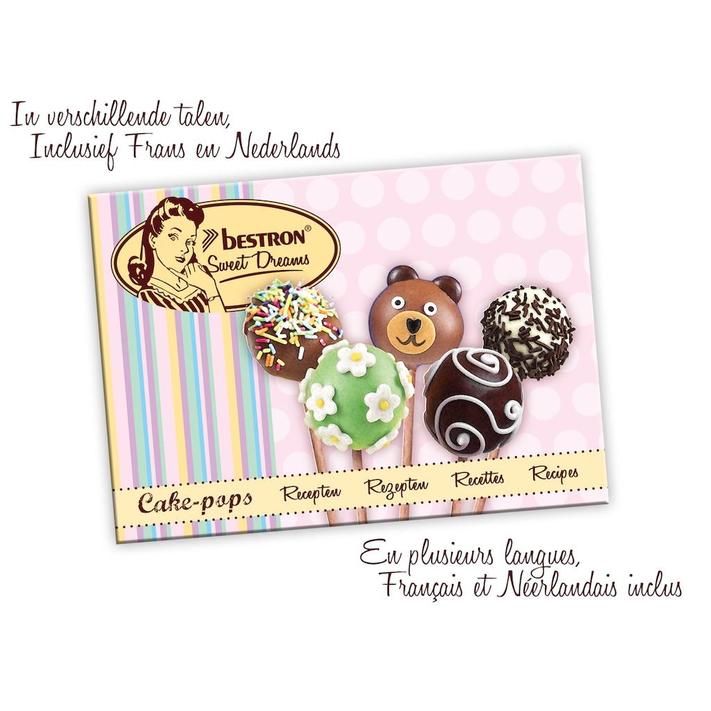 bestron Cakepop-Maker »Sweet Dreams«, 700 W, im Retro Design, Antihaftbeschichtung, Farbe: Rosa