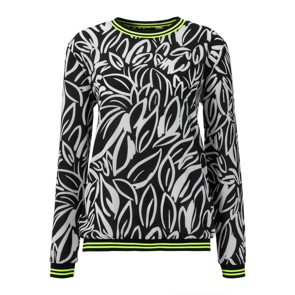 Aniston SELECTED Shirtbluse, mit Neon-Details
