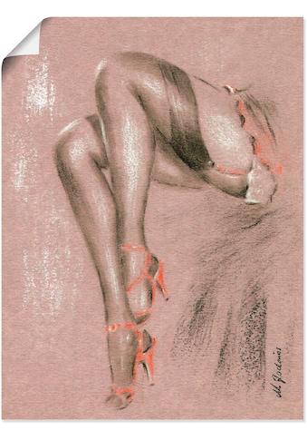 Artland Wandbild »Erotisches in High Heels«, Frau, (1 St.), in vielen Größen & Produktarten - Alubild / Outdoorbild für den Außenbereich, Leinwandbild, Poster, Wandaufkleber / Wandtattoo auch für Badezimmer geeignet kaufen