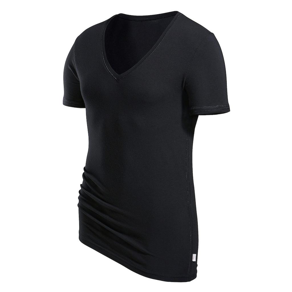s.Oliver T-Shirt, mit tiefem V-Ausschnitt