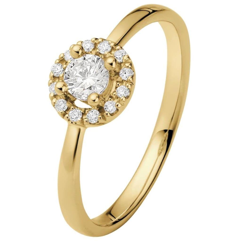 Firetti Diamantring, mit Brillanten in Krappenfassung