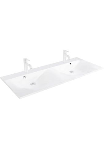 FACKELMANN Waschbecken »Como«, Gussmarmor, Doppelwaschbecken mit Überlauf, Breite 120 cm kaufen