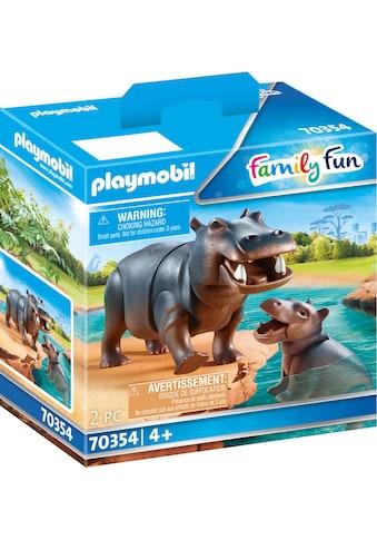 Playmobil® Konstruktions-Spielset »Flusspferd mit Baby (70354), Family Fun«, (2 St.),... kaufen