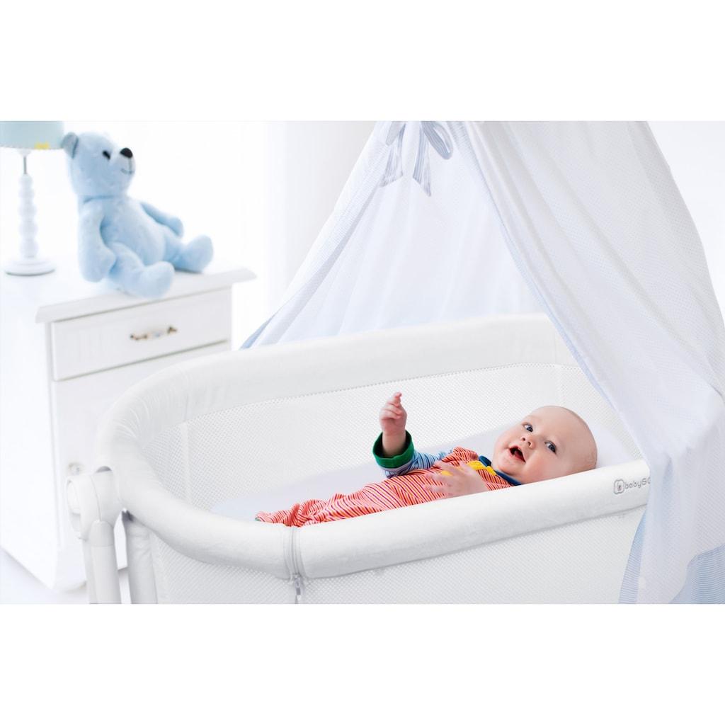 BabyGo Beistellbett »Amila, beige white«, mit Schaukelfunktion