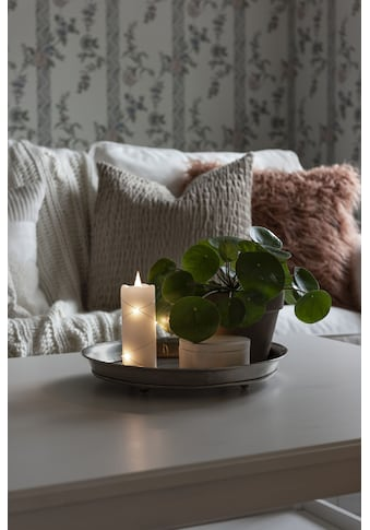 KONSTSMIDE LED-Kerze, LED Echtwachskerze weiß, mit 3D Flamme und silberfarbenem Draht... kaufen