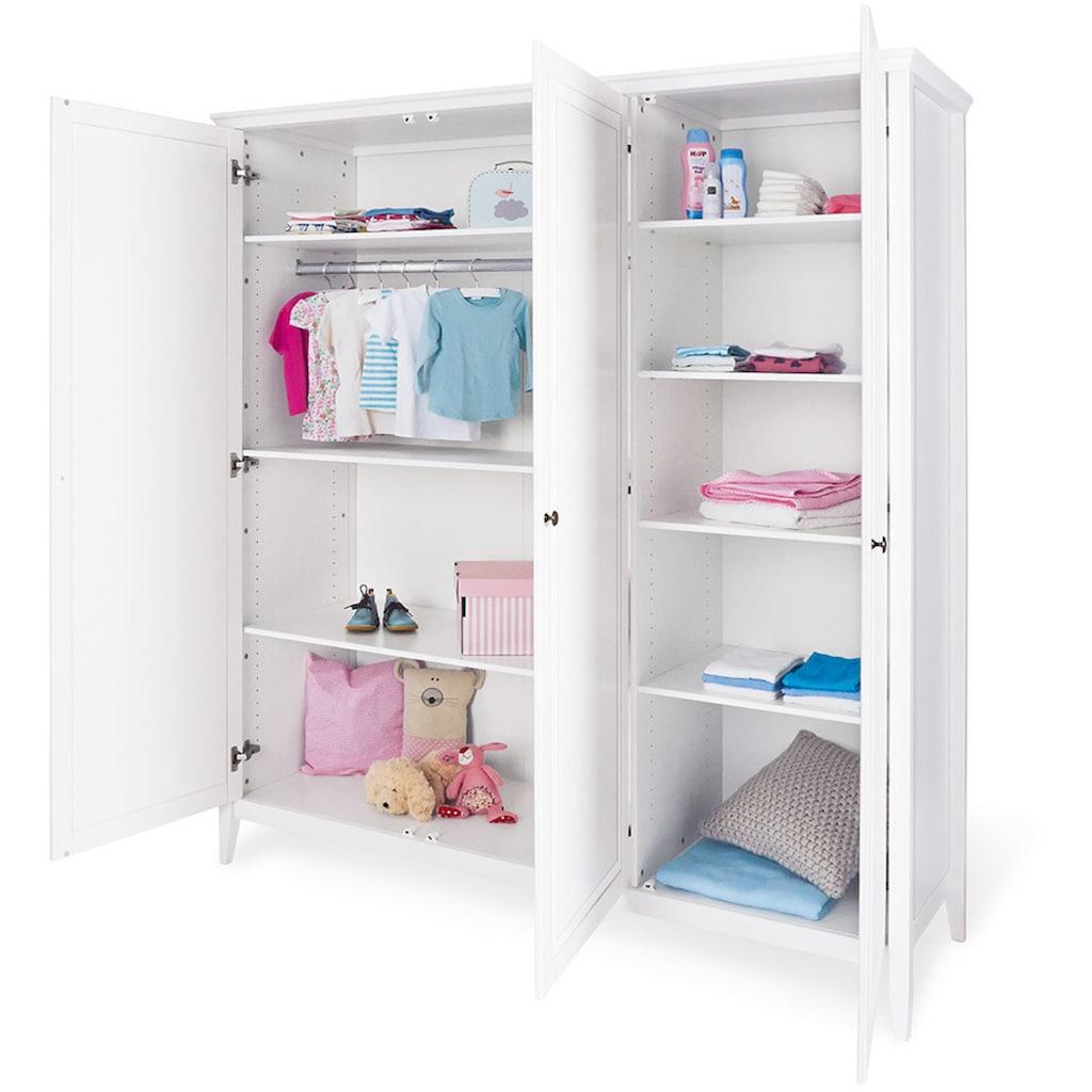 Pinolino® Babyzimmer-Komplettset »Smilla«, (Set, 3 St.), extrabreit groß; mit Kinderbett, Schrank und Wickelkommode; Made in Europe