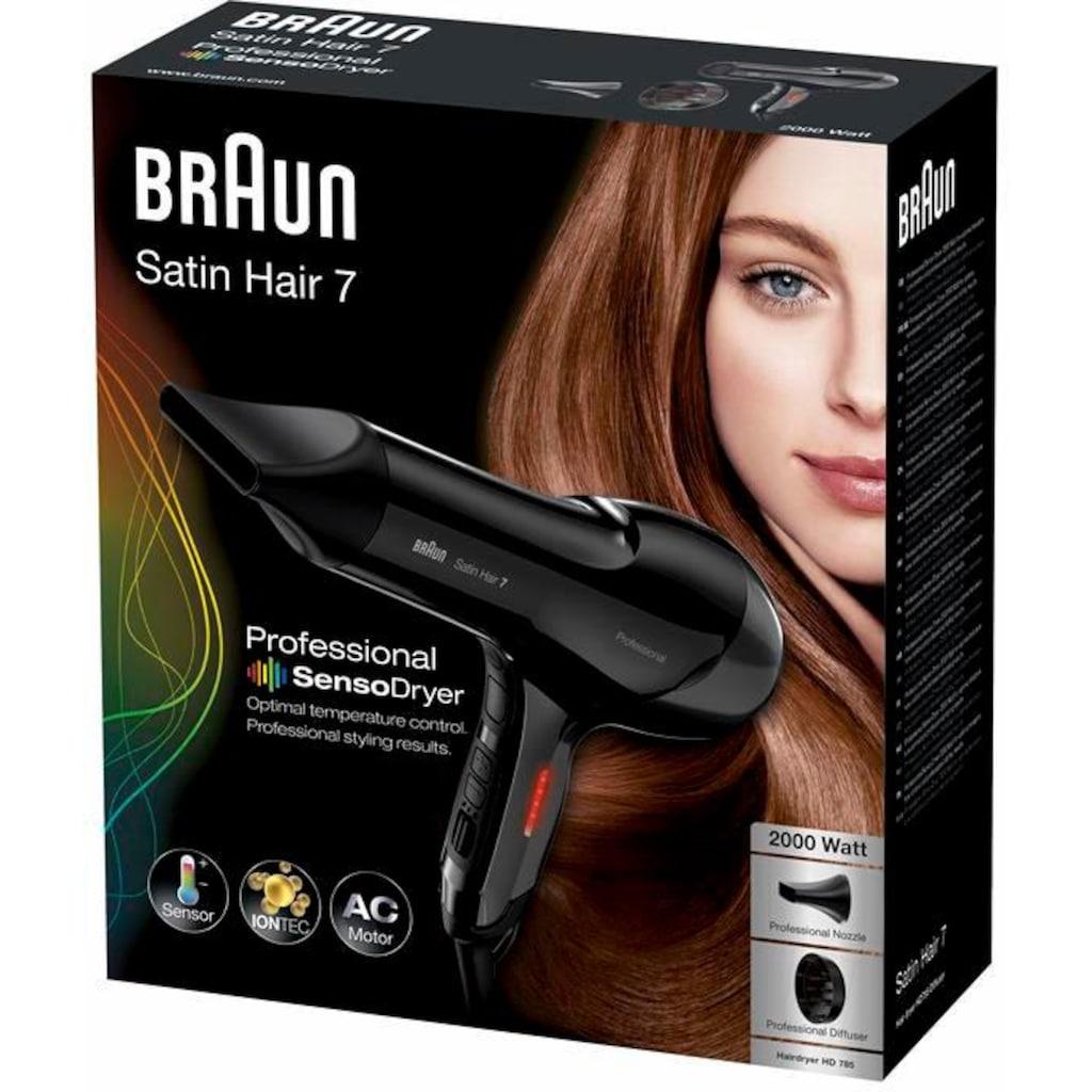 Braun Haartrockner HD785, 2000 Watt, Aufsätze: 2