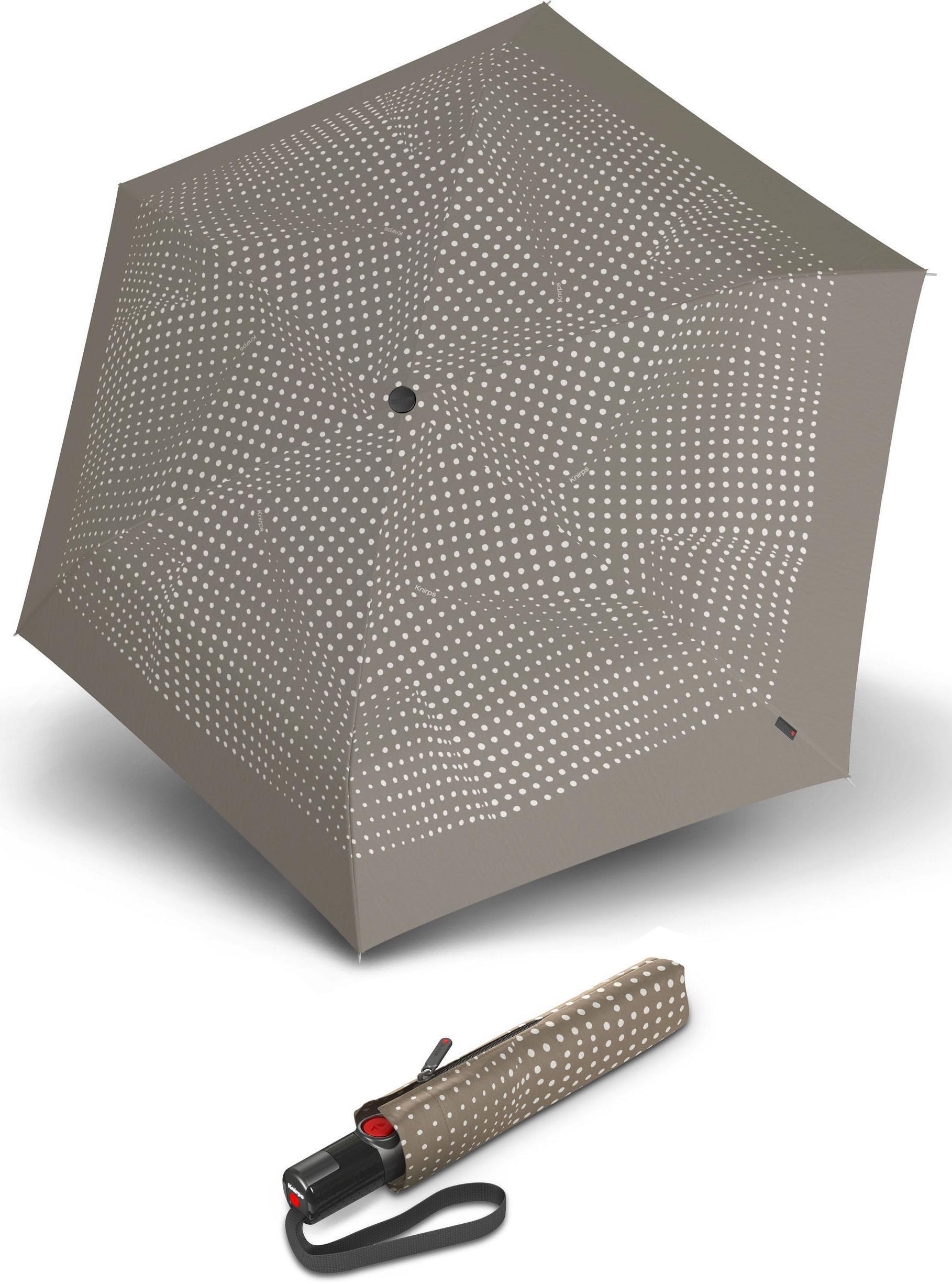 Knirps® Regenschirm - Taschenschirm, »TS.200 Slim Medium Duomatic bolero taupe«   Accessoires > Regenschirme > Taschenschirme   Grau   Wo   KNIRPS