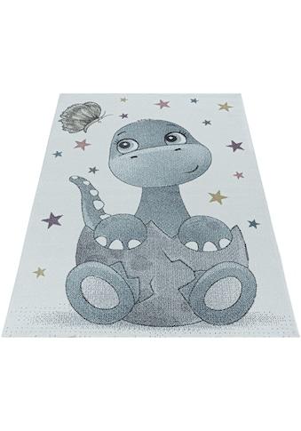 Ayyildiz Kinderteppich »FUNNY 2106«, rechteckig, 11 mm Höhe, Kinder Dino Motivteppich kaufen