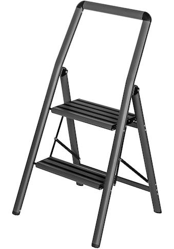 WENKO Trittleiter »Compact«, leicht und rutschfest, standfester Aluminium mit... kaufen