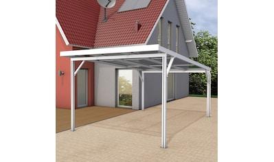 GUTTA Einzelcarport »Premium«, Aluminium, 293,4 cm, weiß, BxT: 309x562 cm, Dacheindeckung Polycarbonat bronce kaufen
