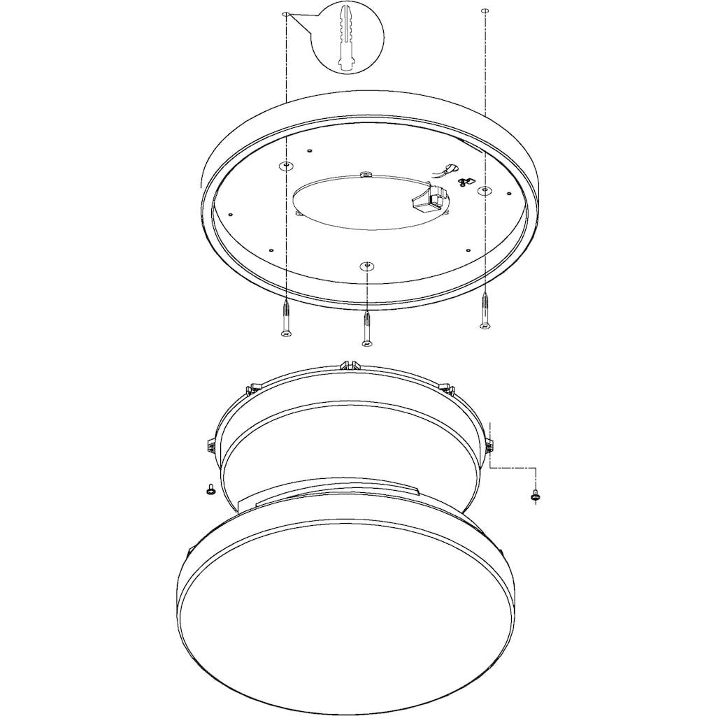 EGLO LED Deckenleuchte »LED LORA«, LED-Board, Warmweiß, IP 54, Durchmesser 42 cm