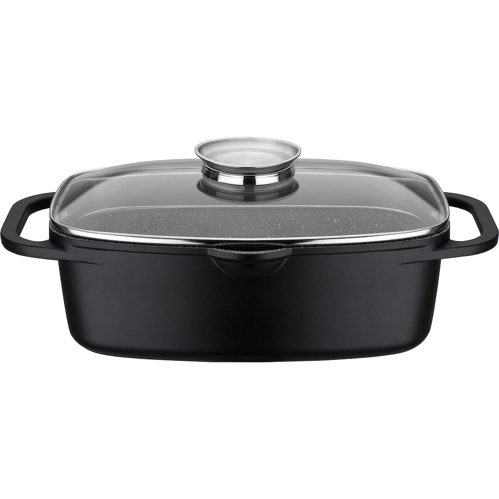 GSW Topf-Set »Gourmet«, Aluminiumguss, (Set, 8 tlg., (3-tlg. Pfannen-Set, 2 Glasdeckel, 1 Bräter, 1 Wok, 1 Küchenzange)
