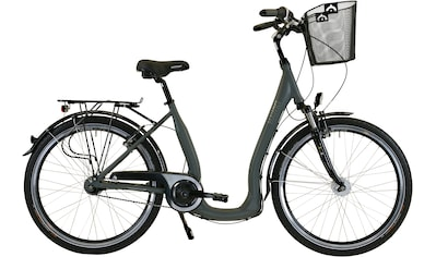 HAWK Bikes Cityrad »HAWK City Comfort Deluxe Plus Grey«, 7 Gang Shimano Nexus Schaltwerk kaufen
