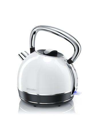 Arendo Retro Style Edelstahl Wasserkocher in weiß kaufen
