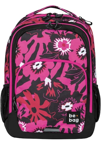 Herlitz Schulrucksack »be.bag be.ready, pink summer«, Reflektionsnähte-reflektierende... kaufen