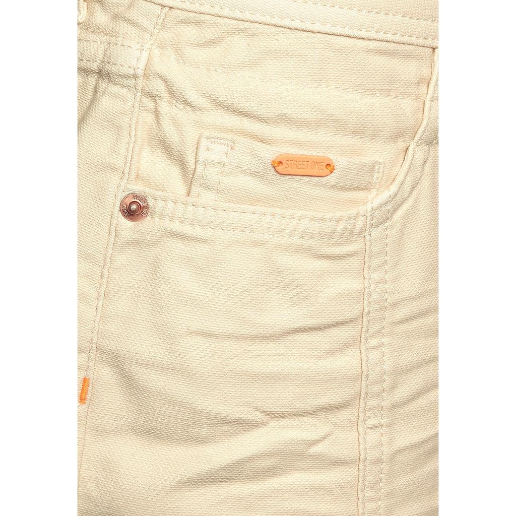 STREET ONE Minirock, im Look von klassischen Jeans
