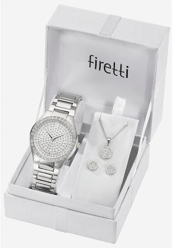Firetti Quarzuhr »TLA - 91304 - Set« (Set, 5 tlg., Uhr mit 2 Ohrsteckern und Kette 45 cm verstellbar) kaufen
