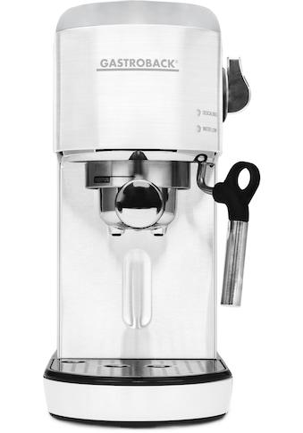 Gastroback Espressomaschine »42717 Design Espresso Piccolo weiß« kaufen