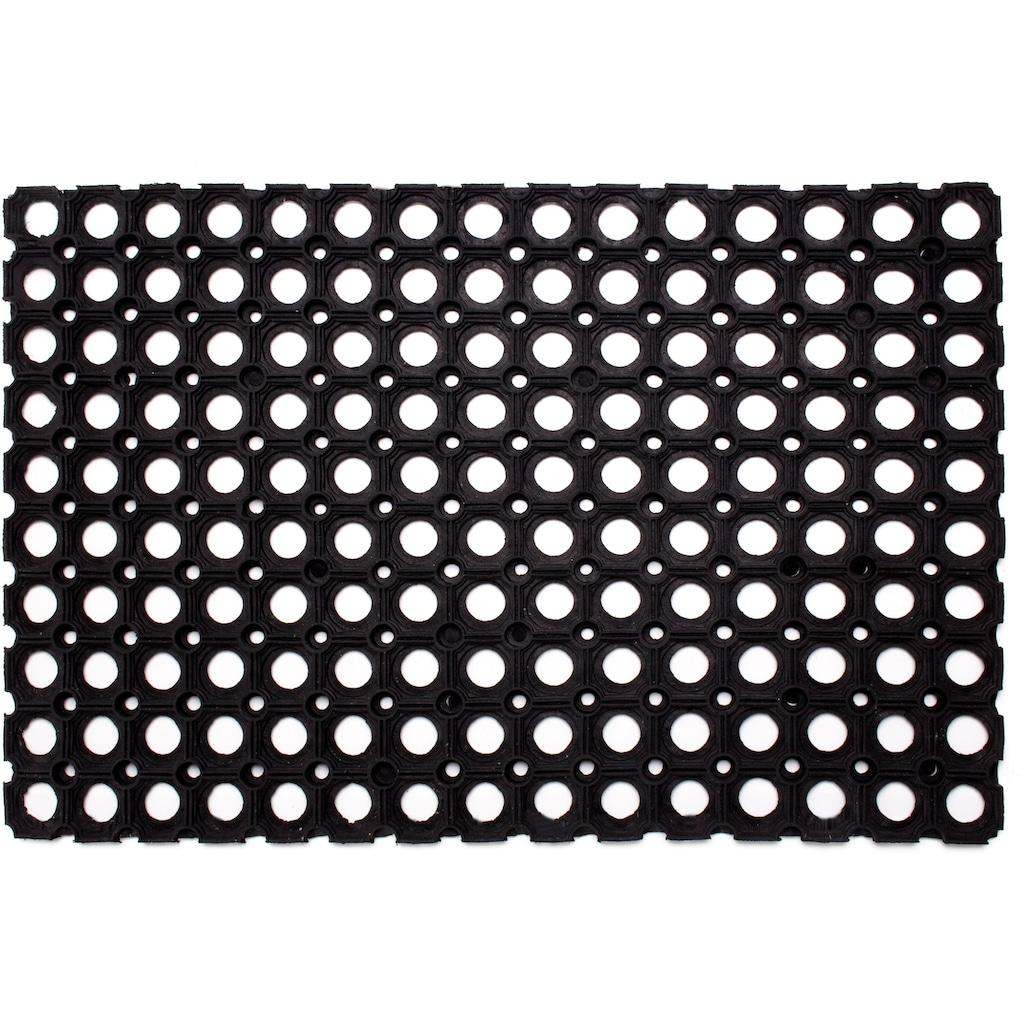 Andiamo Fußmatte »Gummi Ringmatte«, rechteckig, 15 mm Höhe, Schmutzfangmatte, In- und Outdoor geeignet, besonders robust