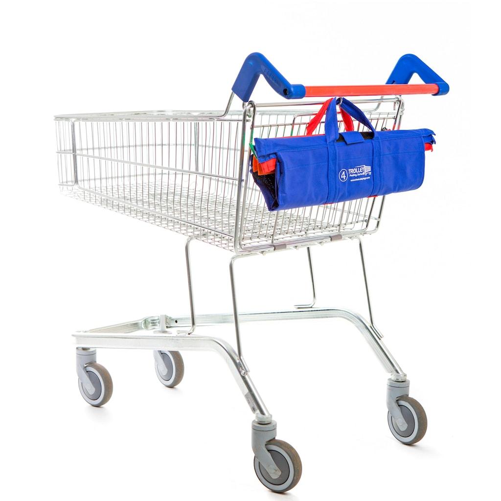 UPP Einkaufsshopper »Trolley Bags«, (Set, 4 tlg.), für Einkaufswagen, 4-teilig, kräftige Farbtöne