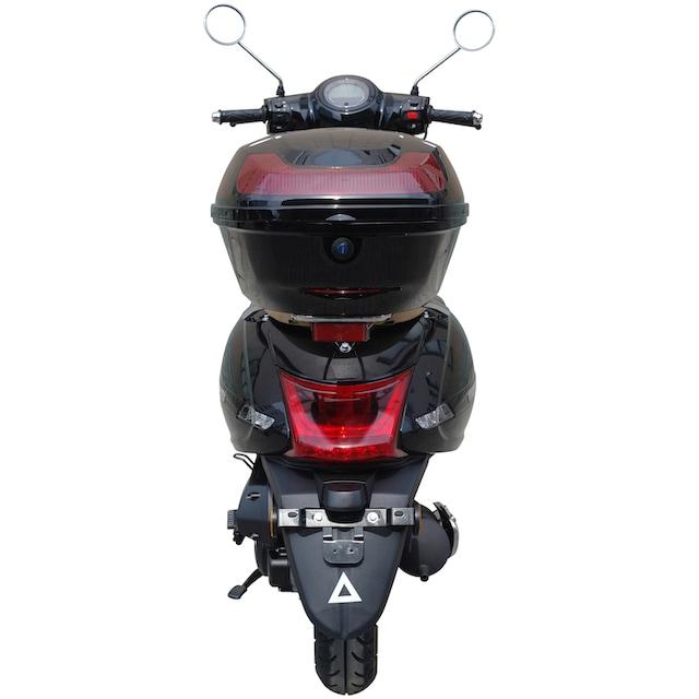 GT UNION Motorroller »Medina«, 50 ccm, 45 km/h, Euro 4, schwarz inkl. Topcase
