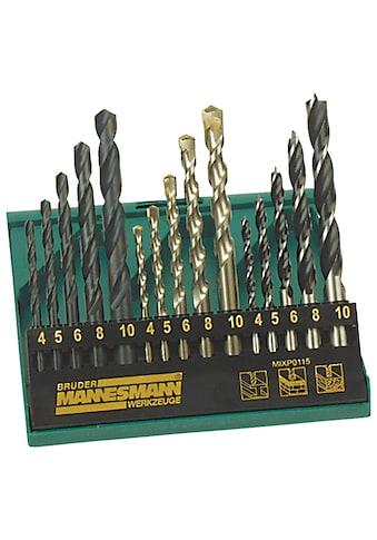 Brüder Mannesmann Werkzeuge Bohrersatz, (Set, 15 tlg.) kaufen
