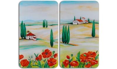 """WENKO Herd - Abdeckplatte """"Toscana"""", Glas, (Set, 2 - tlg.) kaufen"""