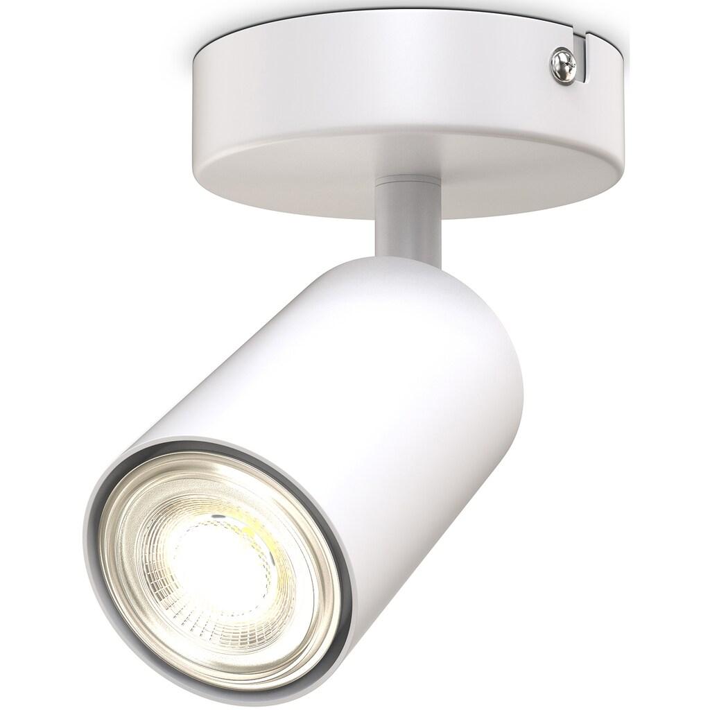 B.K.Licht Deckenspot, GU10, 1 St., 1-flammige Spotlampe, schwenkbar, drehbar, GU10, Schwarz, ohne Leuchtmittel