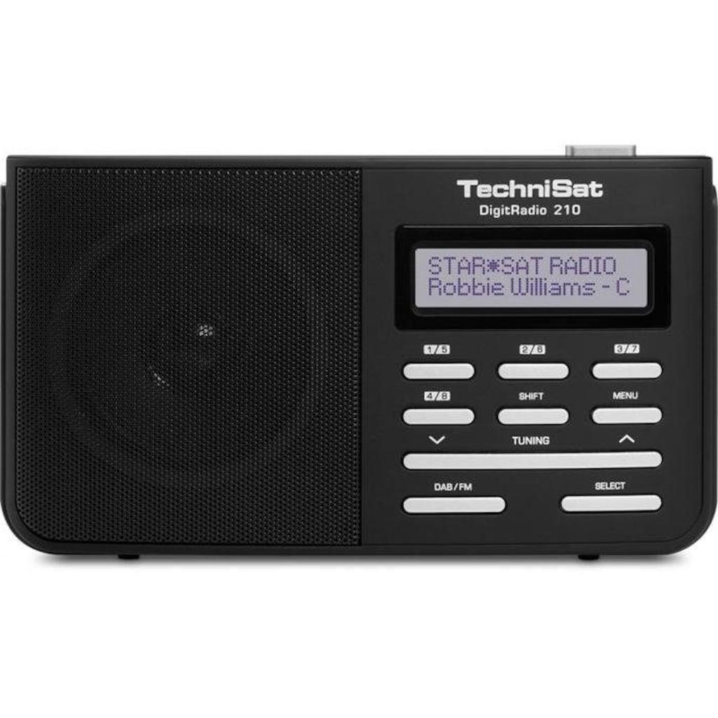 TechniSat mobiles Digitalradio für DAB+/DAB/UKW-Empfang »DigitRadio 210«