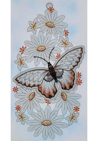 Stickereien Plauen Fensterbild »Schmetterling« kaufen